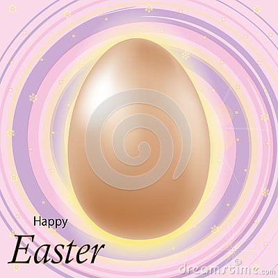 Happy Easter lettering background with realistic Golden glitter decorated eggs . Vector illustration postcard, advertising, Vector Illustration