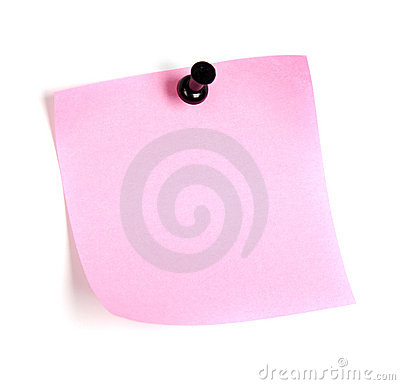 Roze post-it