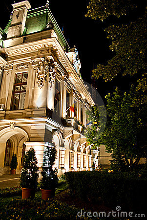 Roznovanu Palace by night -  Iasi City Hall