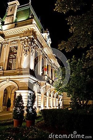 Roznovanu Palace by night -  Iasi City Hall