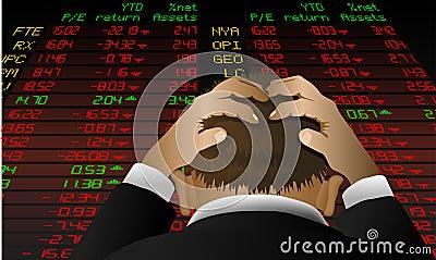 Rozpacza stockexchange
