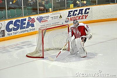 RPI goalkeeper warmup in NCAA Hockey Game Editorial Photo