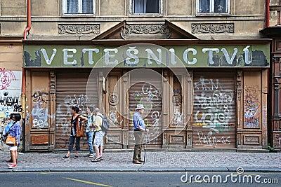 République Tchèque : Tourisme de Prague Image éditorial