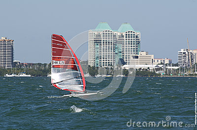 RS:XW Finals at the 2013 ISAF World Sailing Cup in Miami Editorial Stock Image