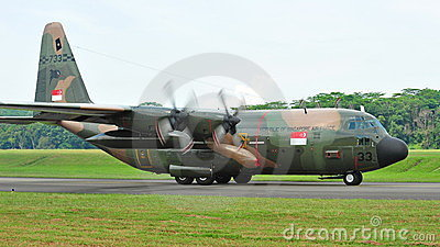 c 130 military transport aircraft  of Singapore Air Force (RSAF)