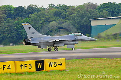 RSAF F-16C/D Fighting Falcon scrambling Editorial Stock Photo