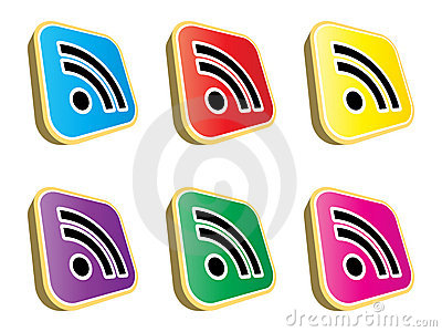 Rss buttons Editorial Stock Image