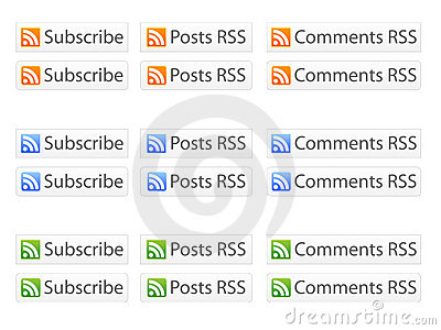 RSS Buttons EPS