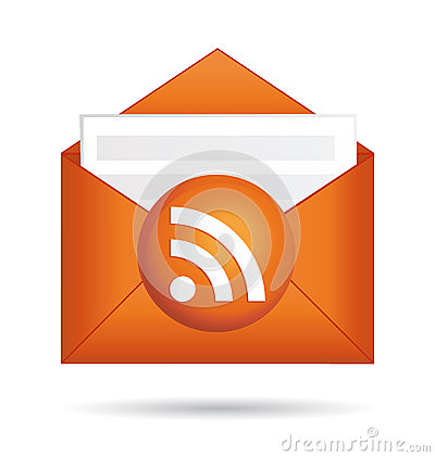 Rss icon orange folder.
