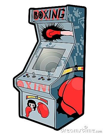 Rétro arcade de boxe