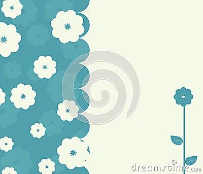 Rétro carte calme avec des fleurs