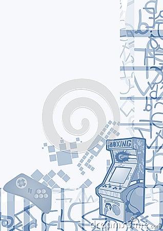 Rétro fond d arcade