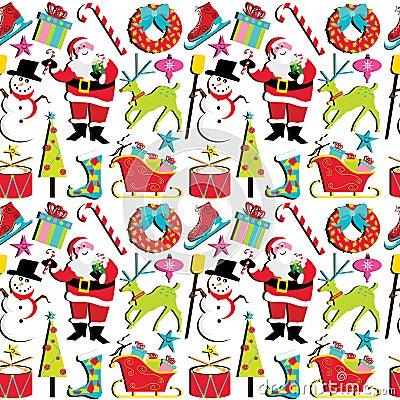 Rétro papier peint de Noël