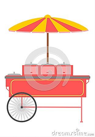 Chariot à aliments de préparation rapide.