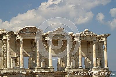 Ruínas antigas em Ephesus