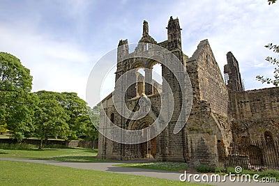 Ruínas históricas da abadia medieval
