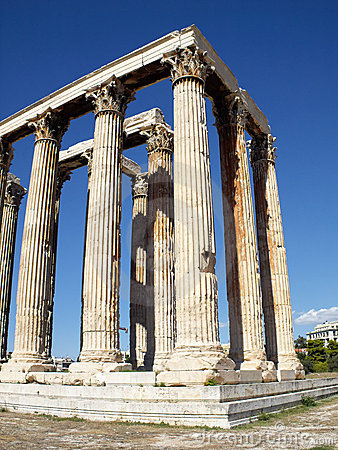 Ruïnes van Olympian tempel Zeus