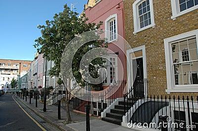 Rua bonita em Londres.