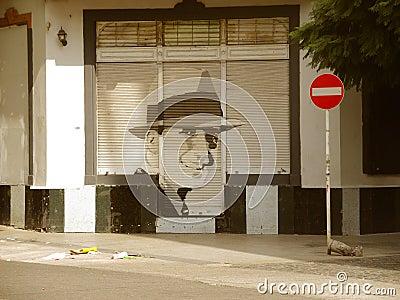 Rua da cidade de Abasto Foto Editorial