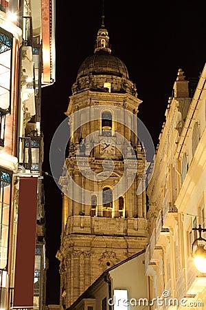 Rua na cidade de Malaga
