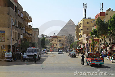 Ruas do Cairo Foto Editorial