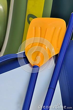 Rubber boat oars