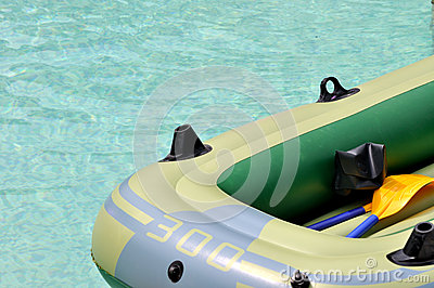 Rubber boat on water