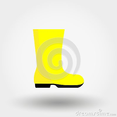 Free Rubber Boot. Icon. Vector. Flat. Royalty Free Stock Photos - 117579448