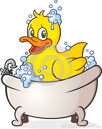 Free Rubber Duck Bubble Bath Cartoon Character Royalty Free Stock Image - 34561266