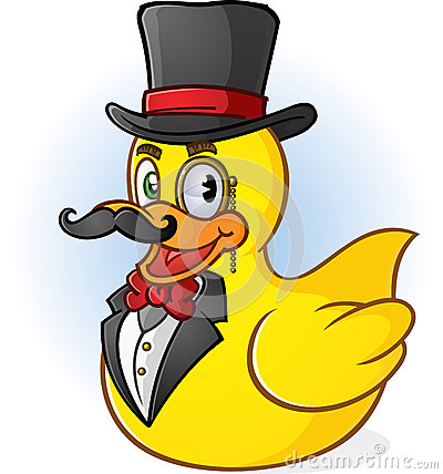 Rubber Duck Gentleman Cartoon