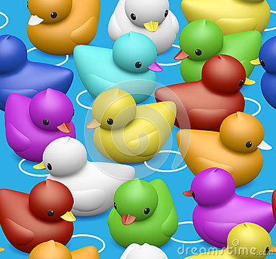 Free Rubber Duck Seamless Pattern For Kids Stock Photos - 30764553
