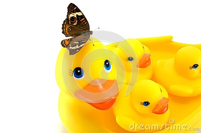 Rubber Ducks with Butterfly