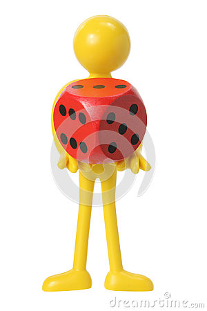 Rubber Figure with Dice