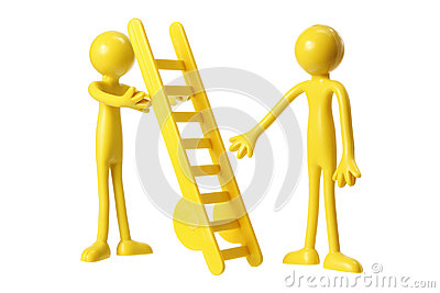 Rubber Figures with Ladder