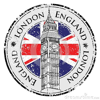 Free Rubber Grunge Stamp London Great Britain Stock Images - 44775314