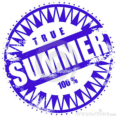Rubber ink stamp: Summer