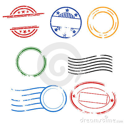 Free Rubber Postage Stamps EPS Royalty Free Stock Image - 15982086