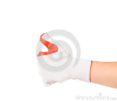 Rubber protective glove.