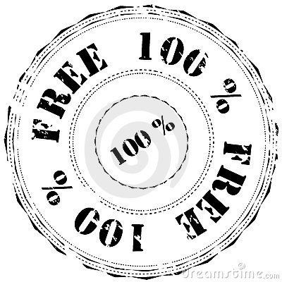 Rubber stamp: 100  Free