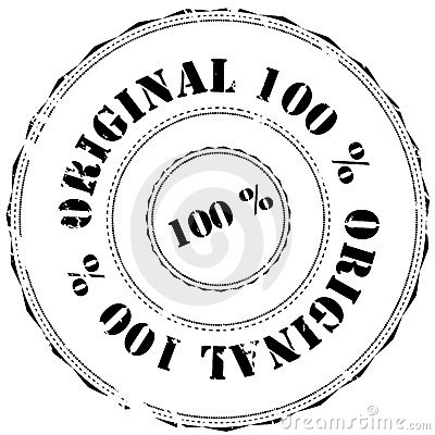 Rubber stamp: 100  Original