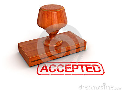 Rubber Stamp Accepted (clipping path included)