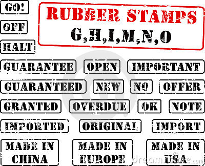 Rubber stamp collection GHIMNO