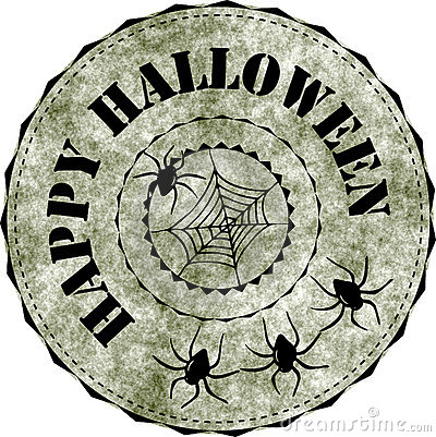 Rubber stamp: Happy Halloween