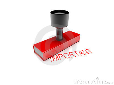 Rubber stamp important