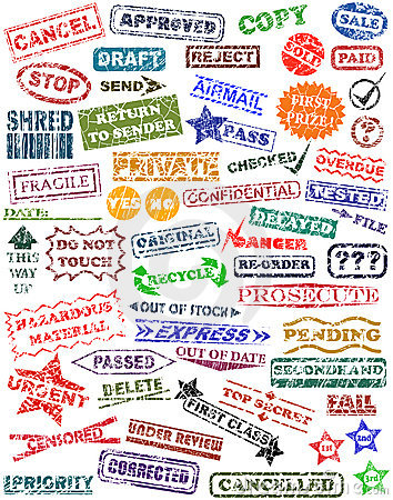 Free Rubber Stamps Stock Photography - 2949712