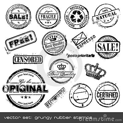 Free Rubber Stamps Royalty Free Stock Image - 9964026