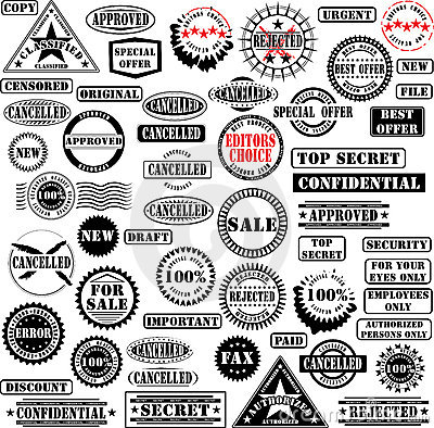 Free Rubber Stamps Collection Royalty Free Stock Photos - 6327468