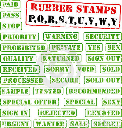 Rubber stamps collection PQ:WY
