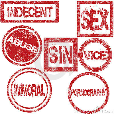 Rubber stamps with sexual conotation