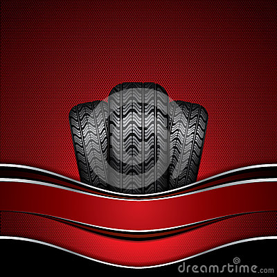 Rubber tire Vector Illustration
